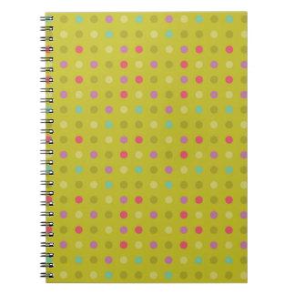 Polka-dot background pattern spiral note book