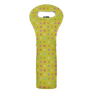 Polka-dot background pattern wine bag