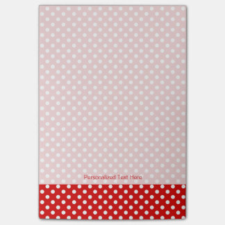 Polka dot background post-it notes