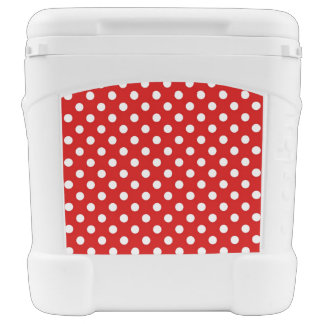 Polka dot background rolling cooler