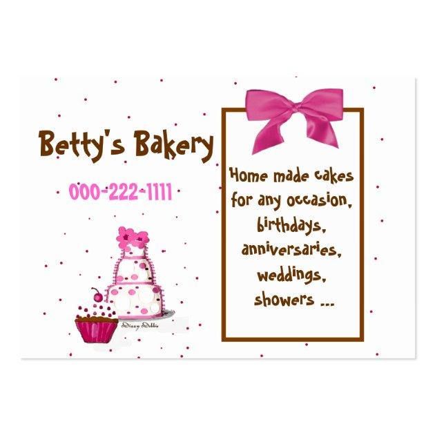 polka dot bakery business card. Black Bedroom Furniture Sets. Home Design Ideas