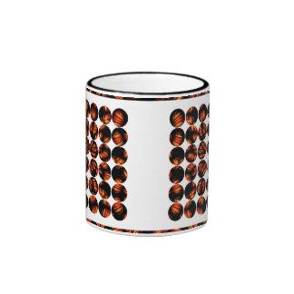 Polka Dot Bamboo Ringer Mug