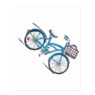 Polka Dot Beach Cruiser Postcard