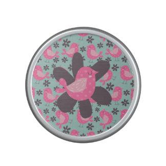 Polka Dot Birds and Flowers Bluetooth Speaker