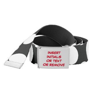 Polka Dot (Black & White) Any Size Customizable Belt