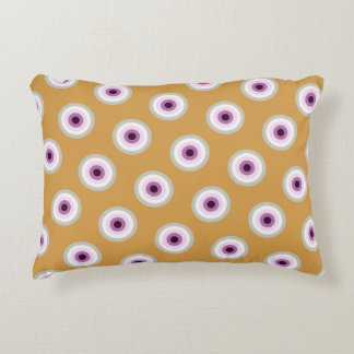 Polka Dot - Blue Violet Purple Lavender Yellow Decorative Cushion