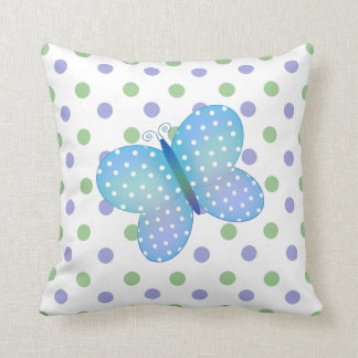 Polka Dot Butterfly American MoJo Pillow