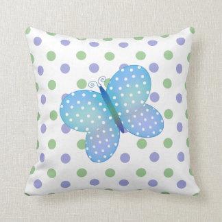 Polka Dot Butterfly American MoJo Pillow Throw Cushion