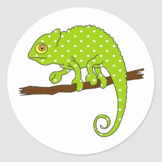 Polka Dot Chameleon Stickers
