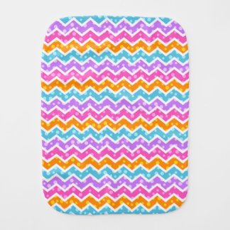 Polka Dot Chevron Burp Cloth