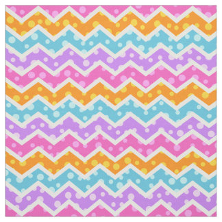 Polka Dot Chevron Pattern Fabric