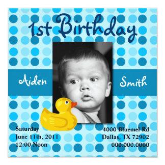 Polka Dot Child Birthday Invite (Boy)