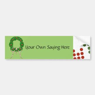 Polka Dot Christmas Wreath Bumper Sticker