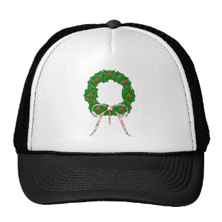 Polka Dot Christmas Wreath Cap