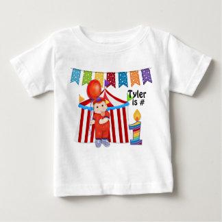 Polka Dot Circus First Birthday Baby T-Shirt