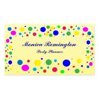 Polka Dot Colors Party Planner Pack Of Standard Business Cards