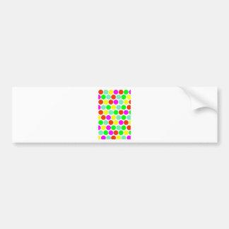 Polka dot, Colors set 2 Bumper Sticker