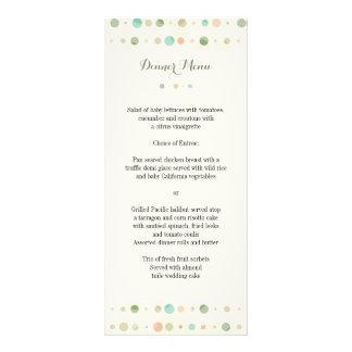 Polka Dot Columns Wedding Menu Personalised Rack Card