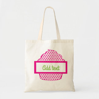 Polka Dot Cupcake in Pink Tote Bag