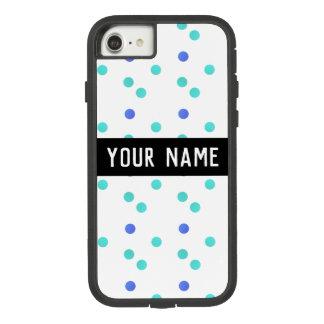 Polka Dot Custom Name Case-Mate Tough Extreme iPhone 8/7 Case