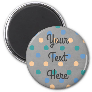 Polka Dot Customizable Magnet