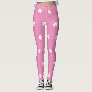 Polka Dot Daisies Leggings
