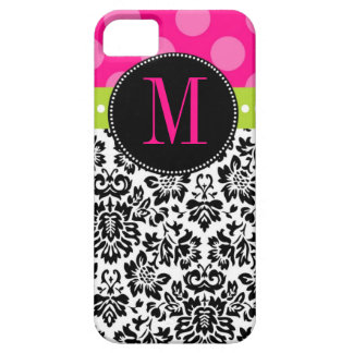 Polka Dot & Damask | Monogram Case For The iPhone 5