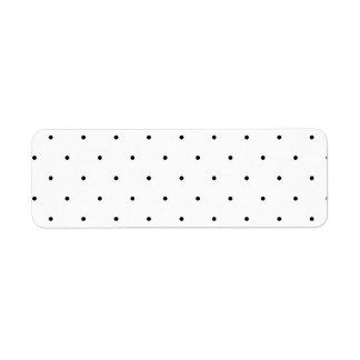 Polka Dot Design Black And White Customisable Return Address Label