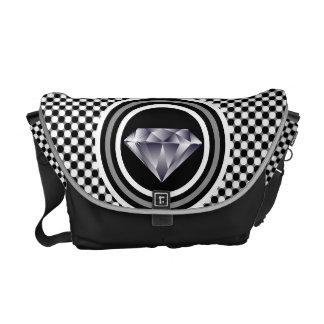 Polka Dot Diamond Monogram Messenger Bag