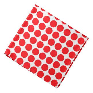 Polka Dot Dots Circle Polkadots Pattern Print Red Bandana