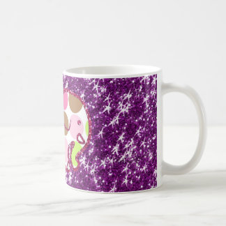 Polka Dot Elephant Sparkly Purple Girly Gifts Coffee Mug