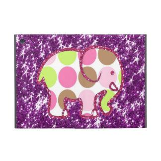 Polka Dot Elephant Sparkly Purple Girly Gifts iPad Mini Case