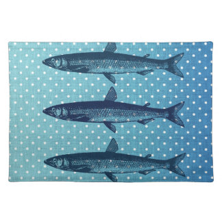 Polka Dot Fish II Place Mat