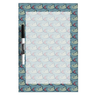 Polka Dot Fish Pattern Dry Erase Board