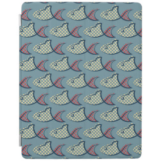 Polka Dot Fish Pattern iPad Cover