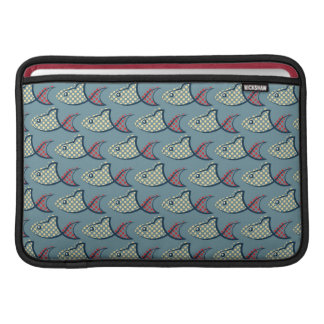 Polka Dot Fish Pattern MacBook Air Sleeves