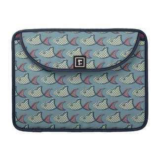 Polka Dot Fish Pattern MacBook Pro Sleeve