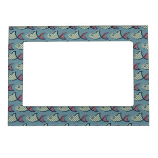 Polka Dot Fish Pattern Magnetic Picture Frame