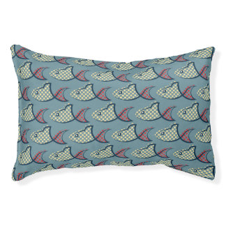 Polka Dot Fish Pattern Pet Bed
