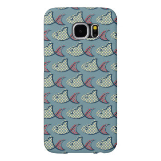 Polka Dot Fish Pattern Samsung Galaxy S6 Cases