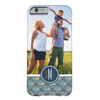 Polka Dot Fish Pattern| Your Photo & Monogram Barely There iPhone 6 Case
