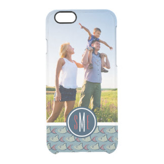 Polka Dot Fish Pattern| Your Photo & Monogram Clear iPhone 6/6S Case