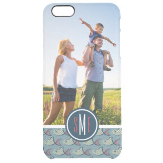 Polka Dot Fish Pattern| Your Photo & Monogram Clear iPhone 6 Plus Case