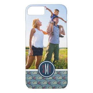 Polka Dot Fish Pattern| Your Photo & Monogram iPhone 8/7 Case