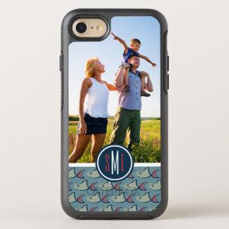 Polka Dot Fish Pattern | Your Photo & Monogram OtterBox Symmetry iPhone 8/7 Case
