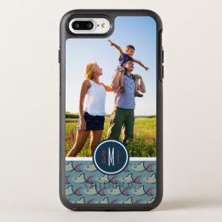Polka Dot Fish Pattern | Your Photo & Monogram OtterBox Symmetry iPhone 8 Plus/7 Plus Case