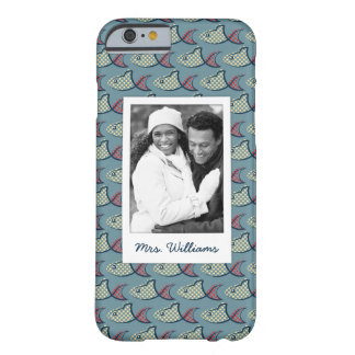 Polka Dot Fish Pattern | Your Photo & Name Barely There iPhone 6 Case