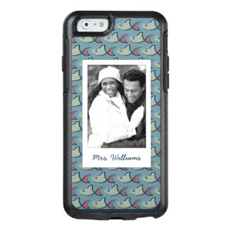 Polka Dot Fish Pattern | Your Photo & Name OtterBox iPhone 6/6s Case
