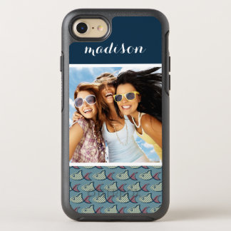 Polka Dot Fish Pattern | Your Photo & Name OtterBox Symmetry iPhone 8/7 Case
