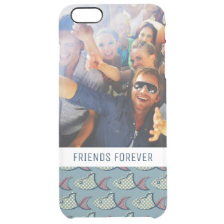 Polka Dot Fish Pattern | Your Photo & Text Clear iPhone 6 Plus Case